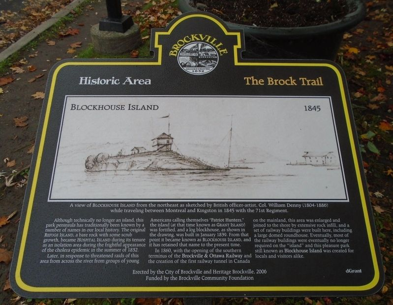 Blockhouse Island Marker image. Click for full size.