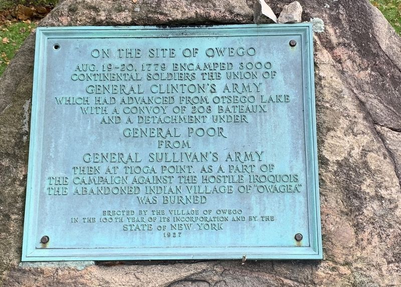 On the Site of Owego Marker image. Click for full size.