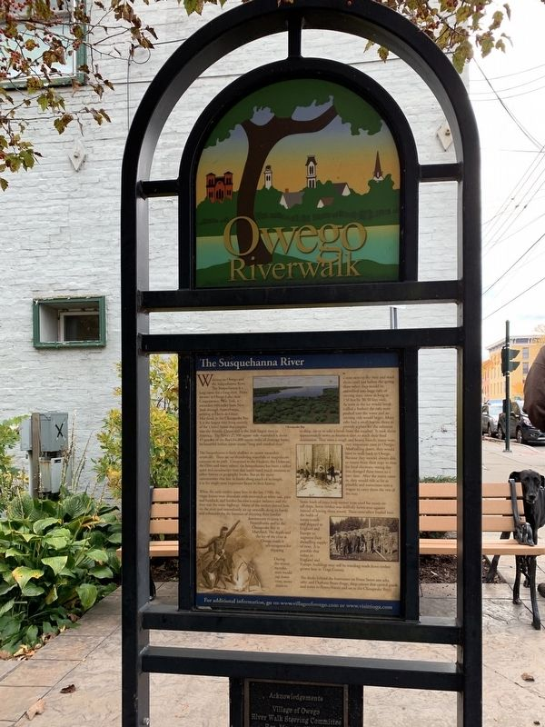 Owego Riverwalk Marker image. Click for full size.