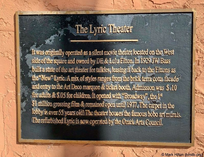 The Lyric Theater Marker image. Click for full size.