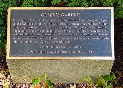 Grace's Garden Marker image. Click for full size.