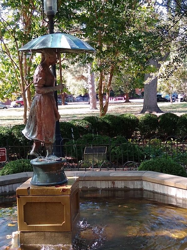 Grace's Garden Marker and Umbrella Girl Statue image. Click for full size.