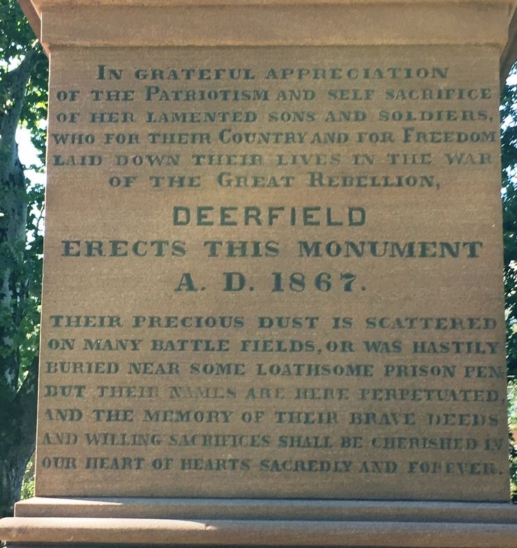 Deerfield Civil War Monument image. Click for full size.