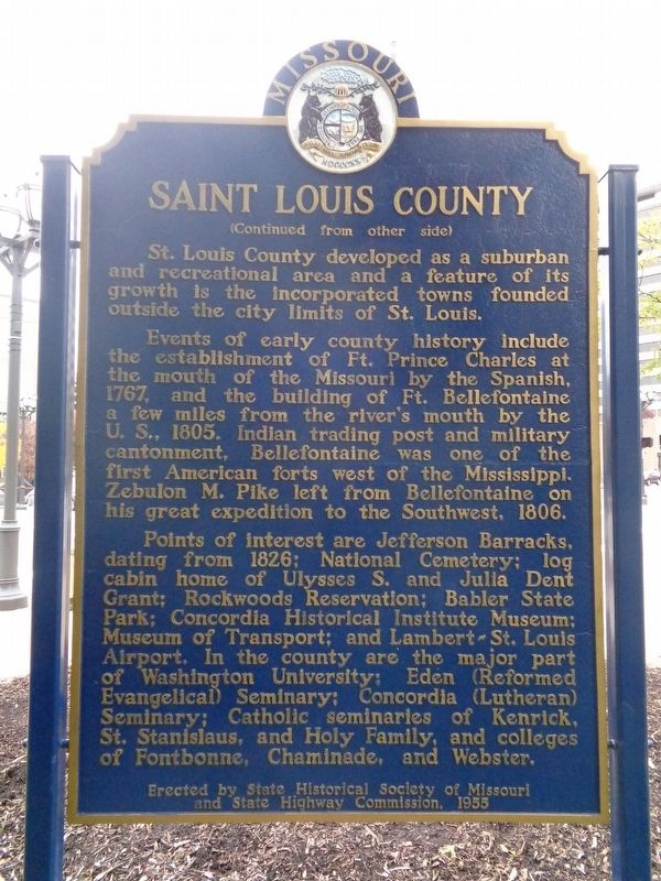 Saint Louis County Marker image. Click for full size.