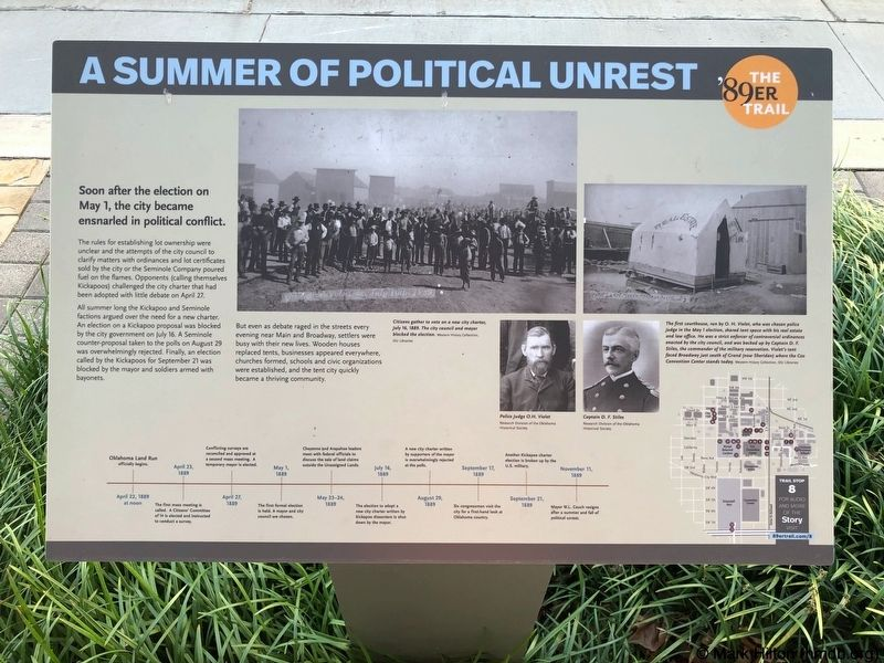 A Summer of Political Unrest Marker image. Click for full size.