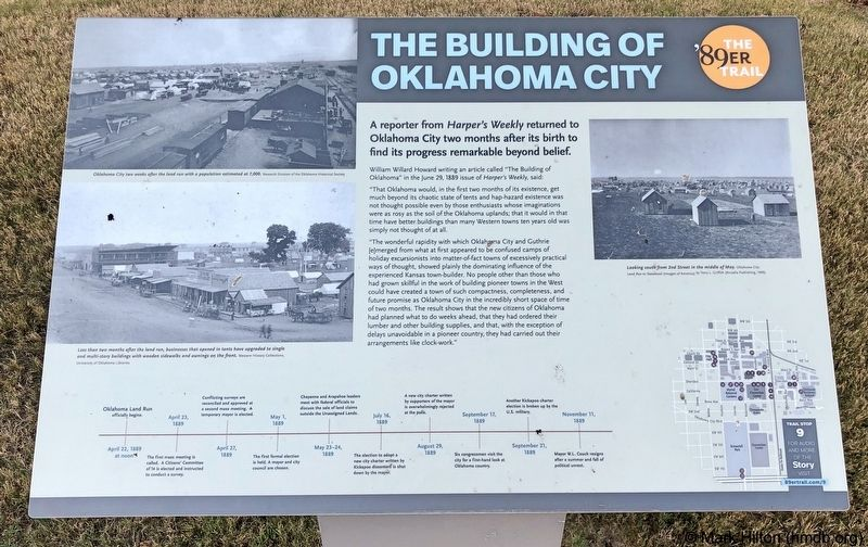 The Building of Oklahoma City Marker image. Click for full size.