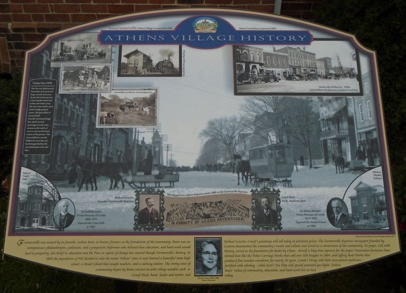 Athens Village History Marker image. Click for full size.