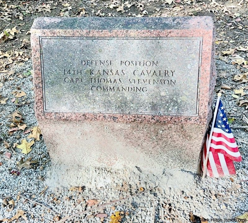 14th Kansas Cavalry Marker image. Click for full size.