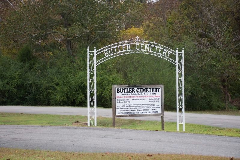The nearby Butler Cemetery signs image. Click for full size.