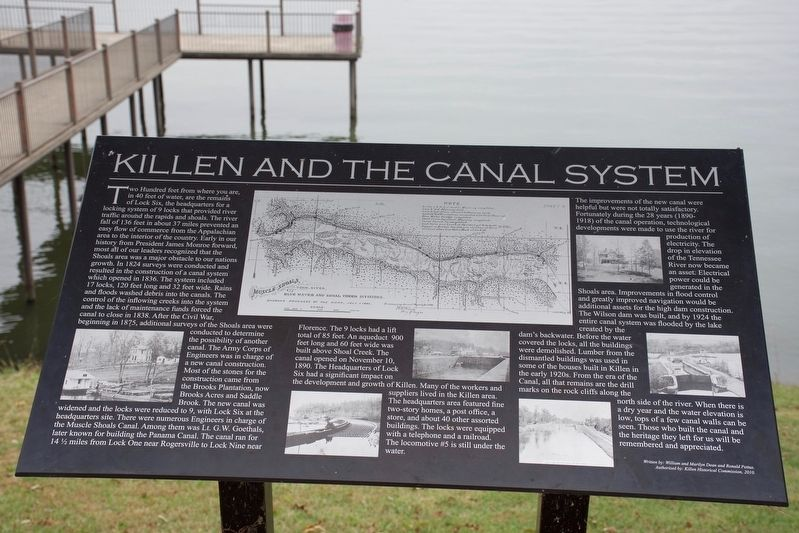 Killen and the Canal System Marker image. Click for full size.