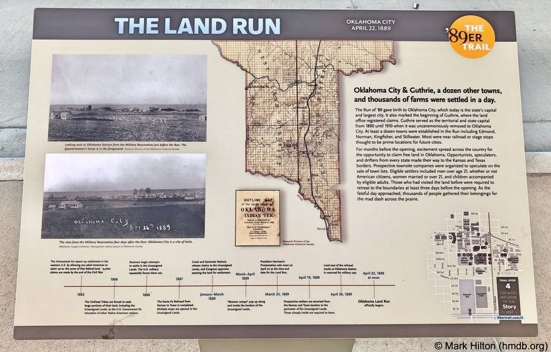 The Land Run Marker image. Click for full size.