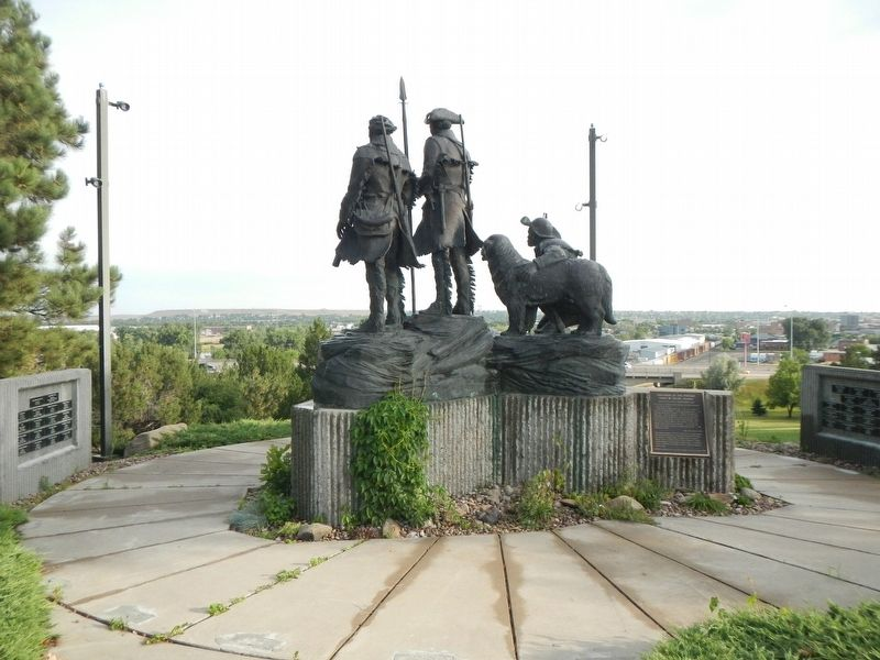 Explorers at the Portage Statue image. Click for full size.