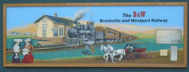 The Brockville & Westport Railway Mural image. Click for full size.