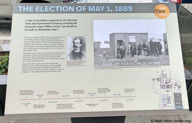 The Election of May 1, 1889 Marker image. Click for full size.