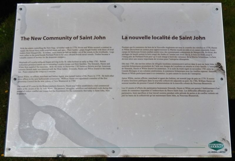 Saint John Community Marker image. Click for full size.