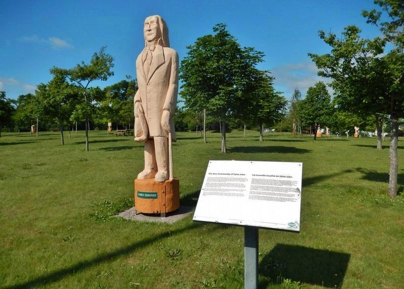 Saint John Community Marker • <i>wide view<br>(James Simonds statue in background)</i> image. Click for full size.