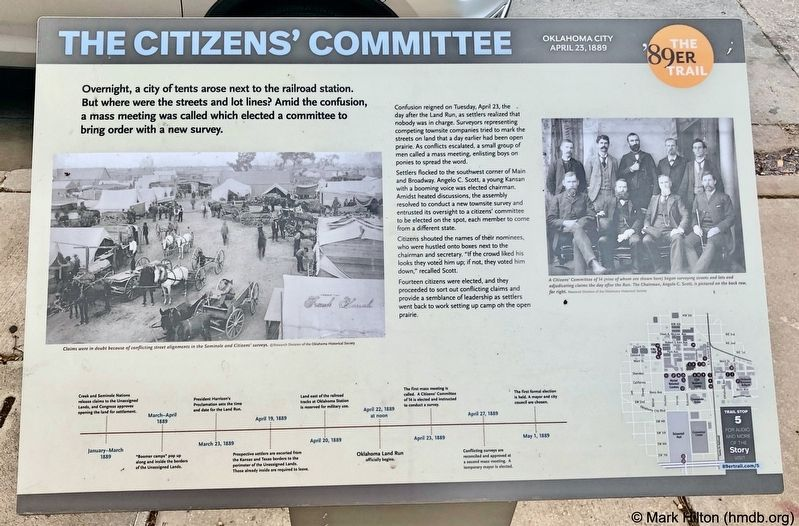 The Citizens' Committee Marker image. Click for full size.