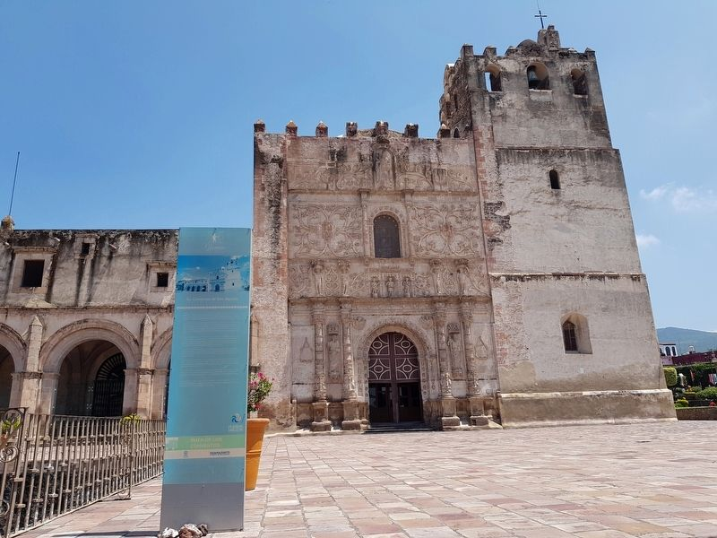 Former Convent of San Agustín and Marker image. Click for full size.
