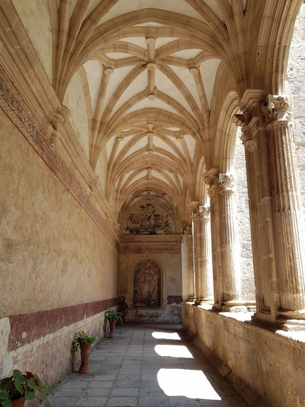 A corridor with ribbed vaulting at the Former Convent of San Agustín image. Click for full size.