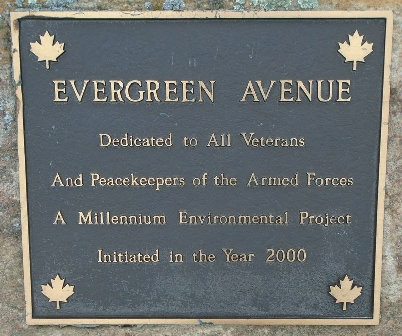 Evergreen Avenue Marker image. Click for full size.