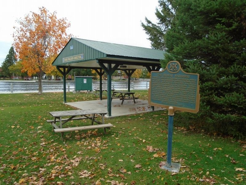 The Rideau Waterway Marker image. Click for full size.