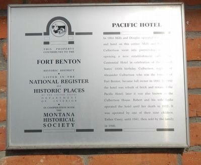 Pacific Hotel Marker image. Click for full size.