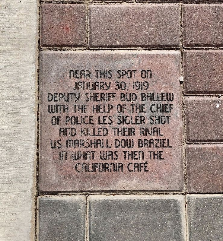 Killing of US Marshal Dow Braziel Marker image. Click for full size.