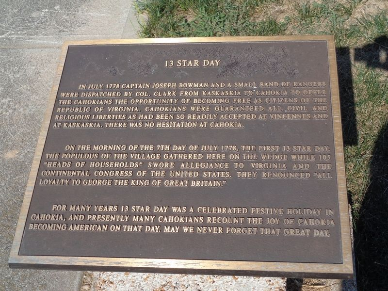 13 Star Day Marker image. Click for full size.