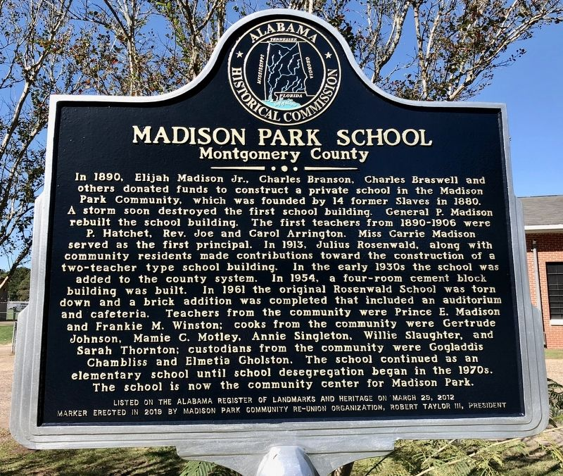 Madison Park School Marker image. Click for full size.