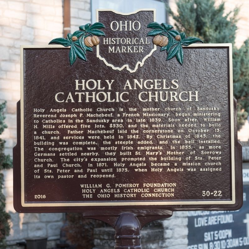 Holy Angels Catholic Church Marker image. Click for full size.