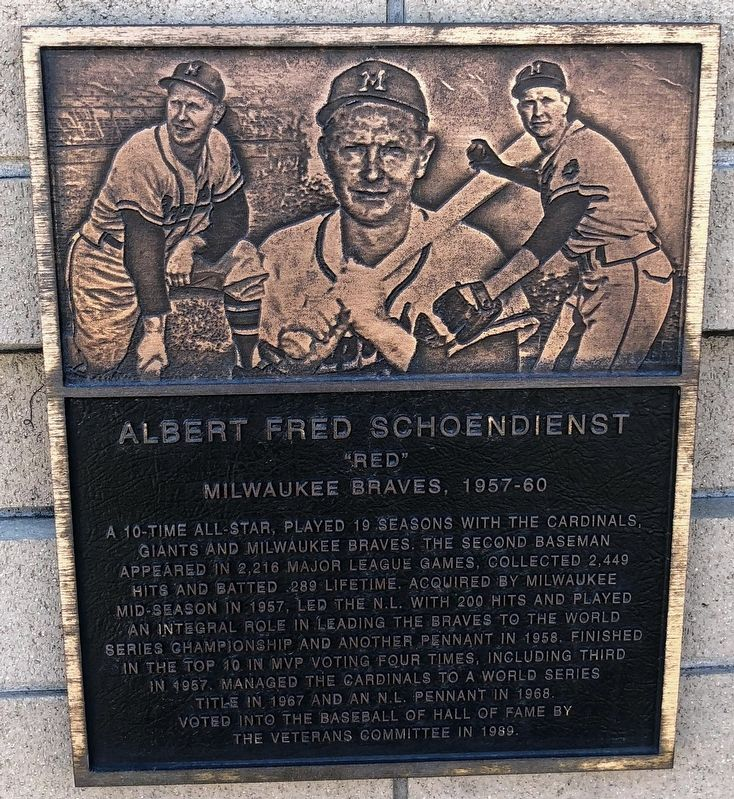 Albert Fred Schoendienst Marker image. Click for full size.