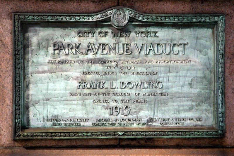 Park Avenue Viaduct Marker image. Click for full size.