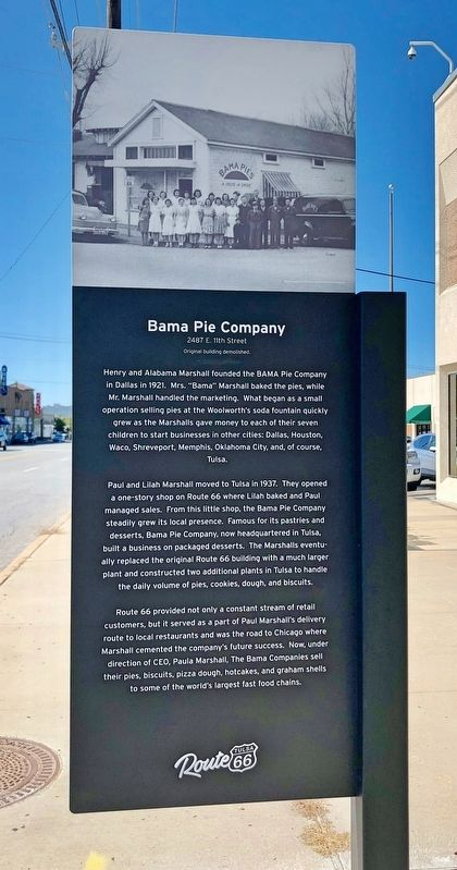 Bama Pie Company Marker image. Click for full size.