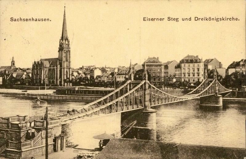 Eiserner Steg: historical postcard view image. Click for full size.