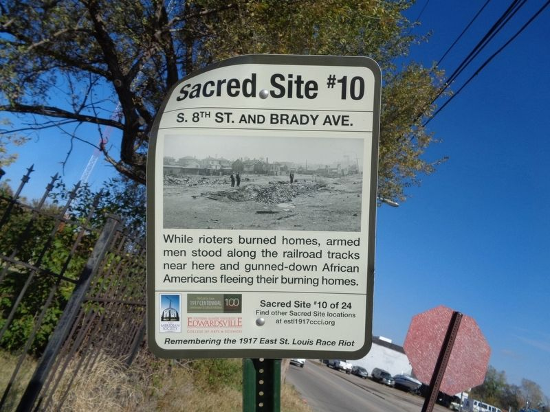 S. 8th St. and Brady Ave. Marker image. Click for full size.