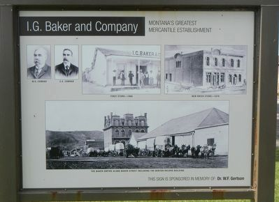 I.G. Baker and Company Marker, inverse image. Click for full size.