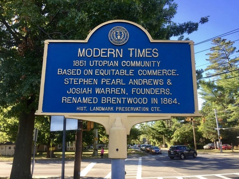 Modern Times Marker image. Click for full size.