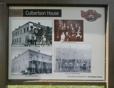 1882 Culbertson House Marker, inverse image. Click for full size.