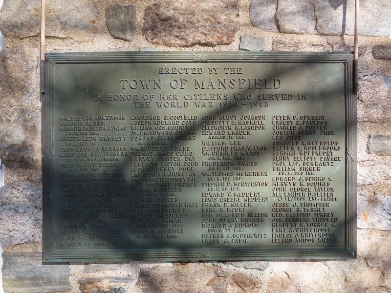 Mansfield World War I Monument image. Click for full size.