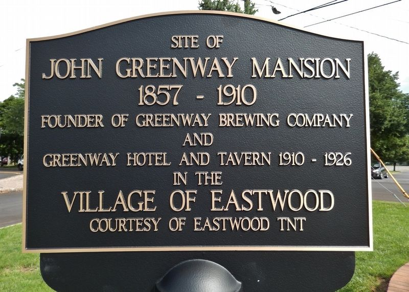 Site of John Greenway Mansion Marker image. Click for full size.