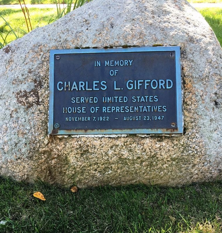 Charles L. Gifford Marker image. Click for full size.
