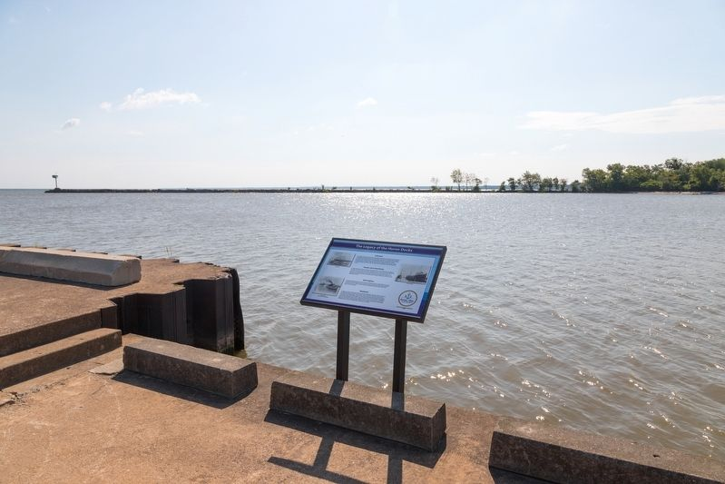 Legacy of the Huron Docks Marker image. Click for full size.