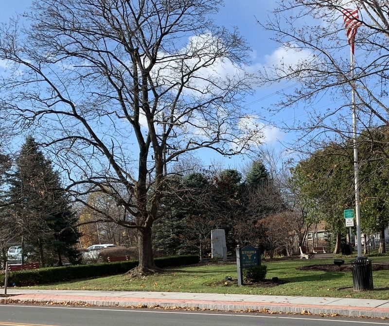 Bethlehem Veterans Memorial Viewed From Across Delaware Avenue image. Click for full size.