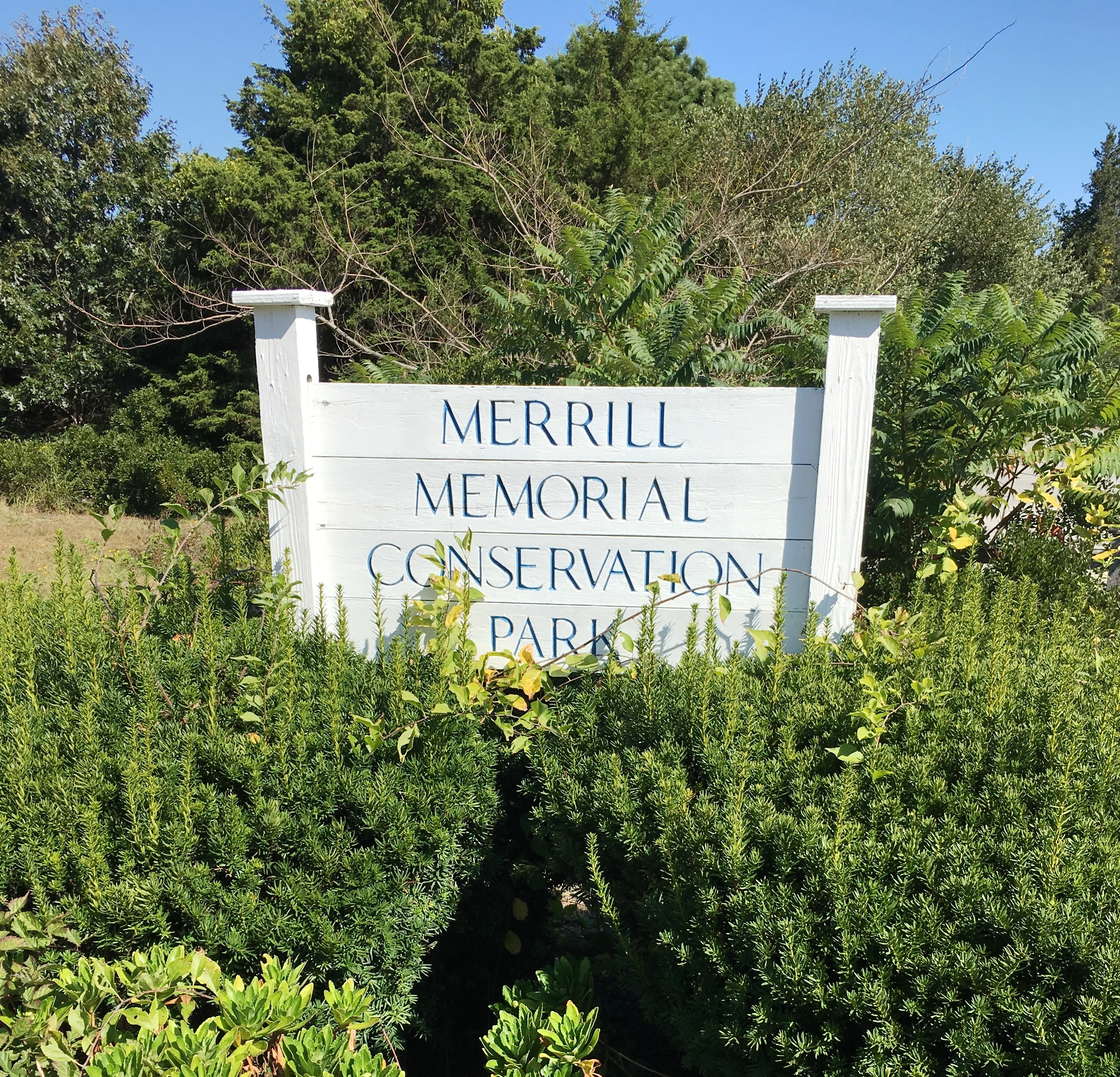 Merrill Memorial Conservation Park Sign