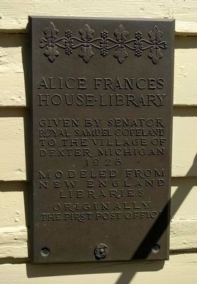Alice Frances House•Library Marker image. Click for full size.