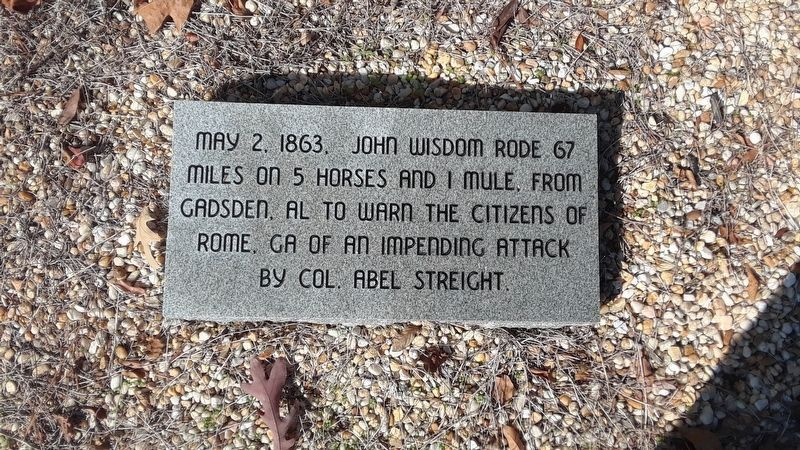 Gen. N.B. Forrest Captured Col. A.D. Streight Marker image. Click for full size.