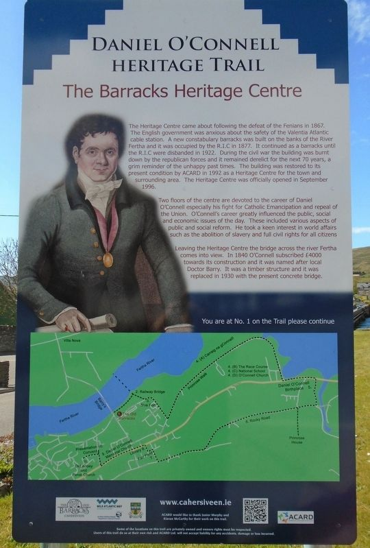 The Barracks Heritage Centre Marker image. Click for full size.