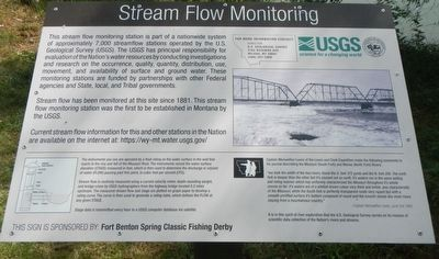 Stream Flow Monitoring Marker image. Click for full size.