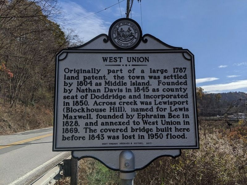 West Union Marker image. Click for full size.