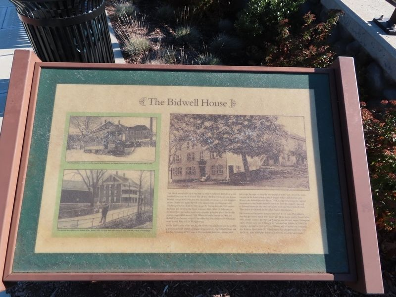 The Bidwell House Marker image. Click for full size.